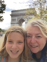 Our first view of the Arc de Triomphe