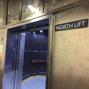 Entrance to the elevator.