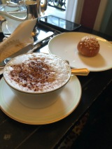 Coffee and sweet breadball