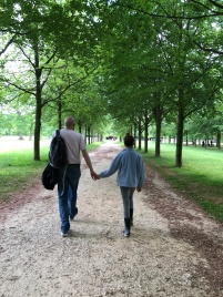 Along the walk from the Versailles gardens to the Trianon Estate